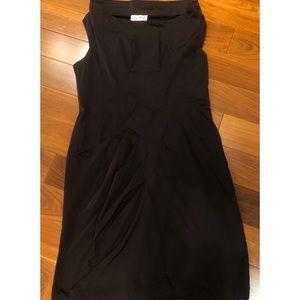 Cowl-neck sleeveless dress
